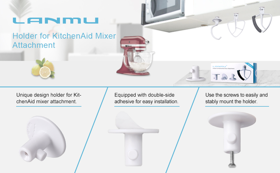 Amazon Com Lanmu Attachment Holder For Kitchenaid Mixer