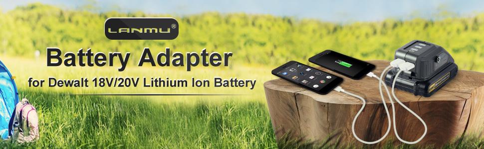 Battery Adapter for Dewalt 18V/20V Lithium Ion Battery