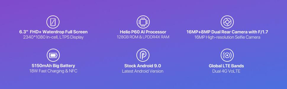 UMIDIGI F1 Factory Unlocked Phone Android 9 0 6 3