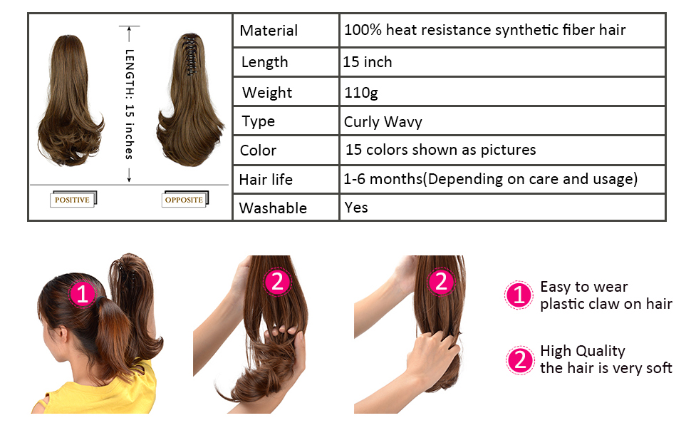 hair ponytail pieces