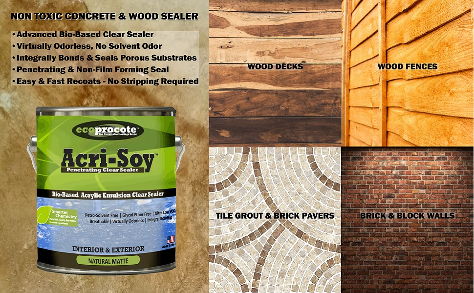 Concrete Sealer Wood Sealer Clear Sealant Paver Sealer Driveway