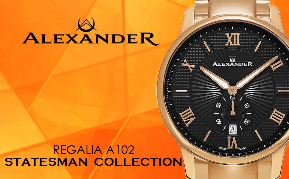 Alexander Swiss Watches - Statesman Regalia Collection - A102
