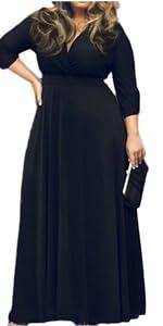dc422ea9d5d0f V-Neck Short Sleeve Plus Size Dress · Plain Casual Plus Size Maxi Dress · V-Neck  Plus Size Long Dress · Plus Size Deep V Neck Bodycon Wrap Dress ...