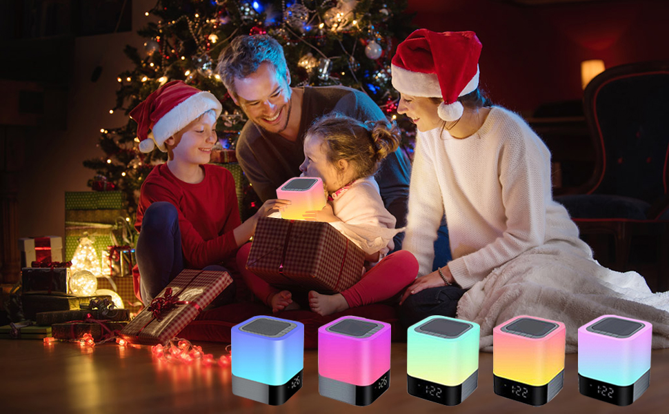 Christmas gift for kids devices night light bluetooth speaker