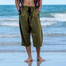5786bcc803 mens drawstring elastic waist lightweight cotton linen casual summer travel beach  pajama yoga pants