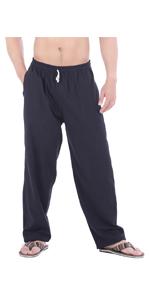 e1beb81c3b mens womens cotton drawstring sweatpants workout yoga pilates taichi gym pants  clothes with pockets · mens joggers lounge ...