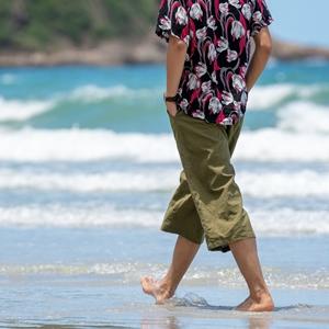 white black mens capris capri pants casual summer travel beach pants clothes for men