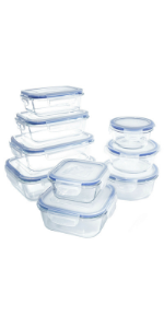 Amazon Com 1790 Glass Food Storage Containers With Lids