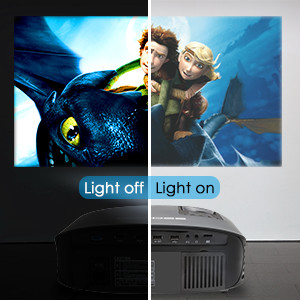 Phonr home cinema party projector portable