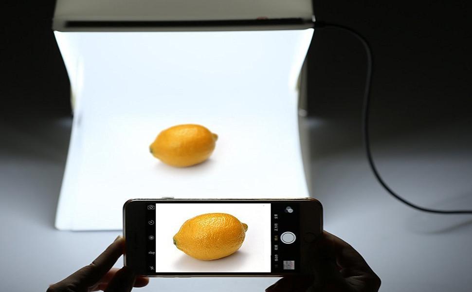 Portable photo studio 9 6 inch photography - Lightbox amazon ...