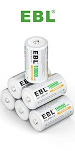 rechargeable d batteries