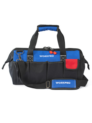 WORKPRO 18-inch Close Top Wide Mouth Storage Tool Bag