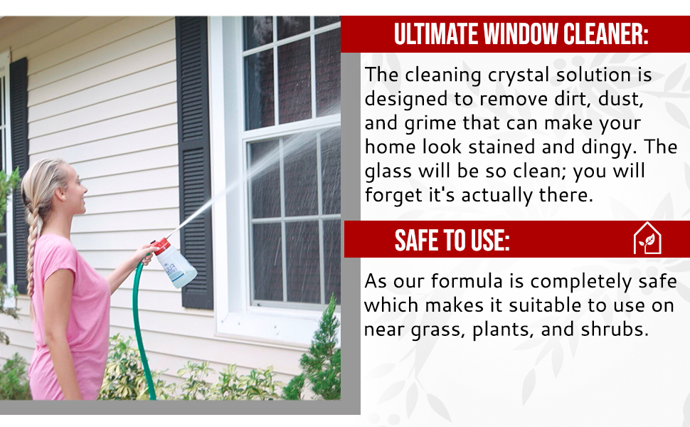 pressure window cleaning system