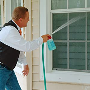 outdoor furniture cleaner will help you clean those hard to reach, second storey windows with ease