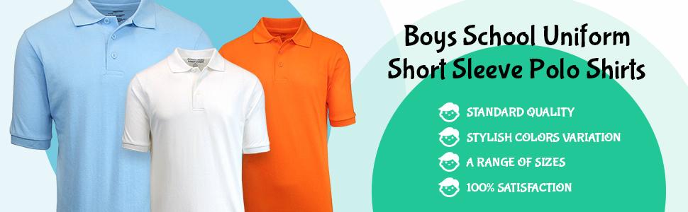 4 Authentic Galaxy School Uniform Boy/'s Size 7 Long Sleeve Polo Shirt Red