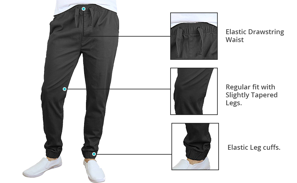 04cdde48219cf Men's Basic Stretch Twill Joggers at Amazon Men's Clothing store: