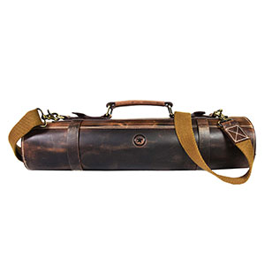 leather chef roll bag