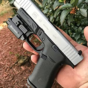 Recover Tactical GR43 Picatinny Rail for The Glock 43, 43X, 48- Easy  Installation, No Modifications Required to Your Firearm, no Need for a  Gunsmith