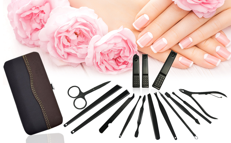 ONME 15Pcs Nail Clippers Set Pedicure Kit Stainless Steel Nail Clipper set,  Professional Nail Scissors