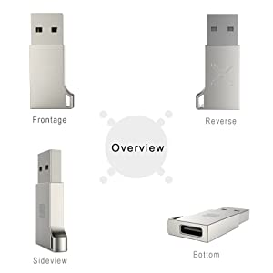 usb c to usb 3 type c adapter cable zinc alloy metal