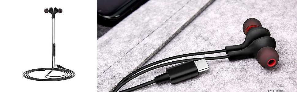 usb type c headphones earphones earbuds for pixel