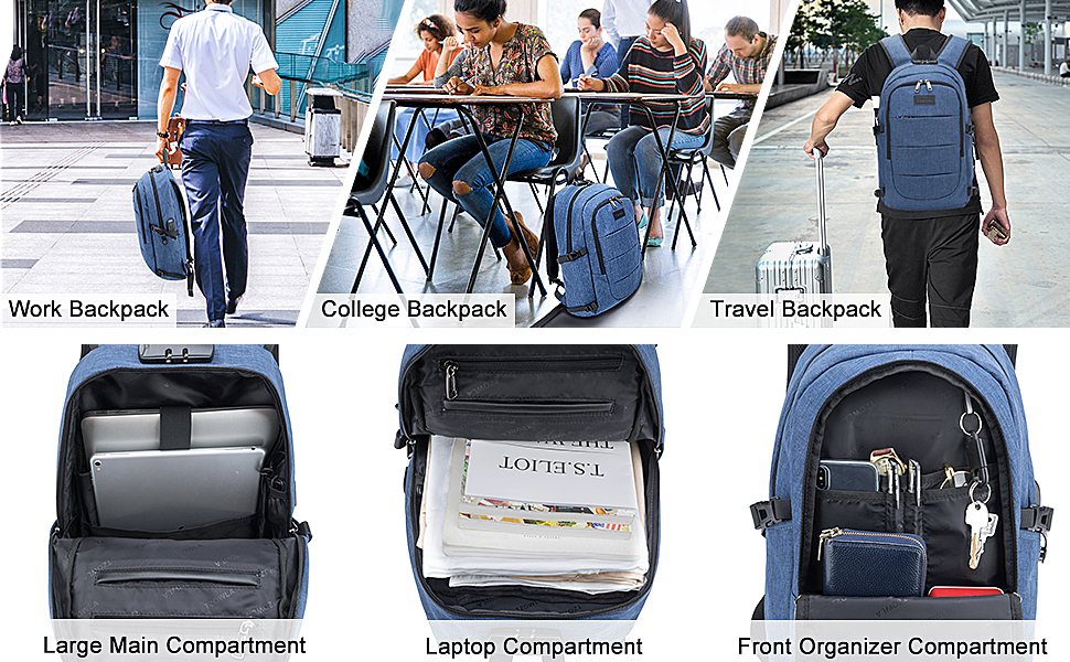 Backpack for daily use at school college,business and travel, suitable for women, men and students.