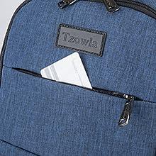 Front Hidden Zipper Pocket