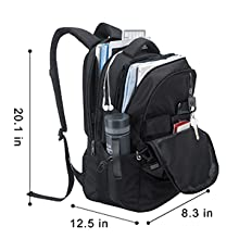 Large Travel Backpack with Multiple Pockets