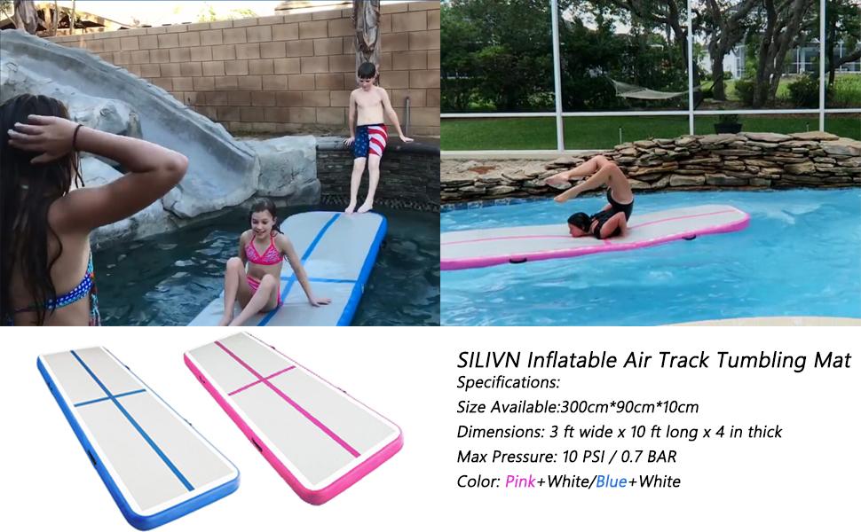 Amazon.com: Alfombrilla de gimnasia de SILIVN, inflable con ...