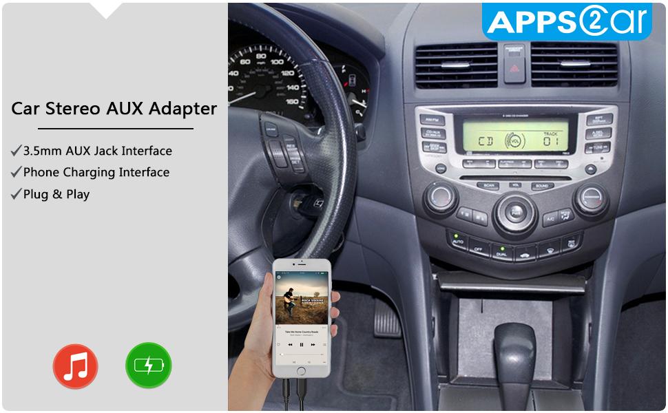 Amazoncom New Generation Car Stereo AUX Input Adapter Honda - 2004 acura tsx aux input