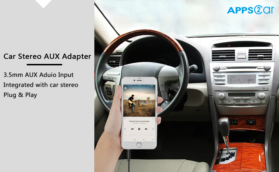 apps2car car radio aux adapter auxiliary input. Black Bedroom Furniture Sets. Home Design Ideas