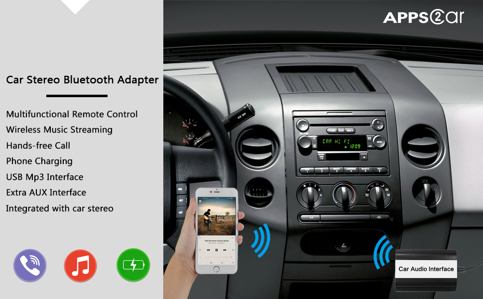 Amazon Car Stereo Bluetooth Adapter For Ford Wireless Music Rhamazon: 2004 Ford Ranger Radio With Aux At Gmaili.net