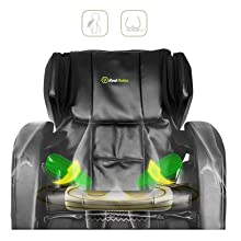 Hip airbags and seat massage sooth your side and enhance relaxation