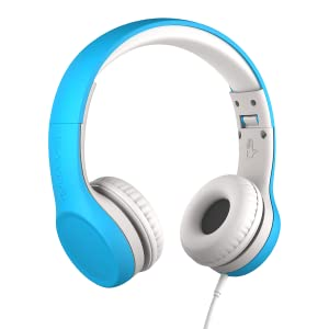 Blue Connect+ Volume Limited Wired Headphones with SharePort for Kids/Children Ages 3-7