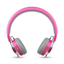 Pink Untangled Pro Bluetooth Wireless Headphones with SharePort for Kids/Children Ages 4 and Up
