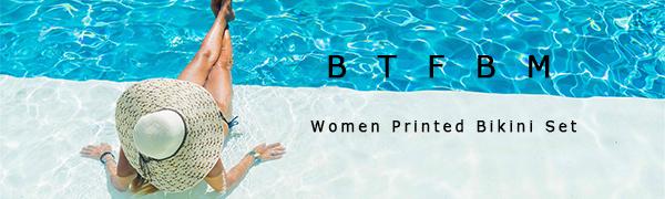 Amazon.com: BTFBM - Bikini de dos piezas con estampado de ...