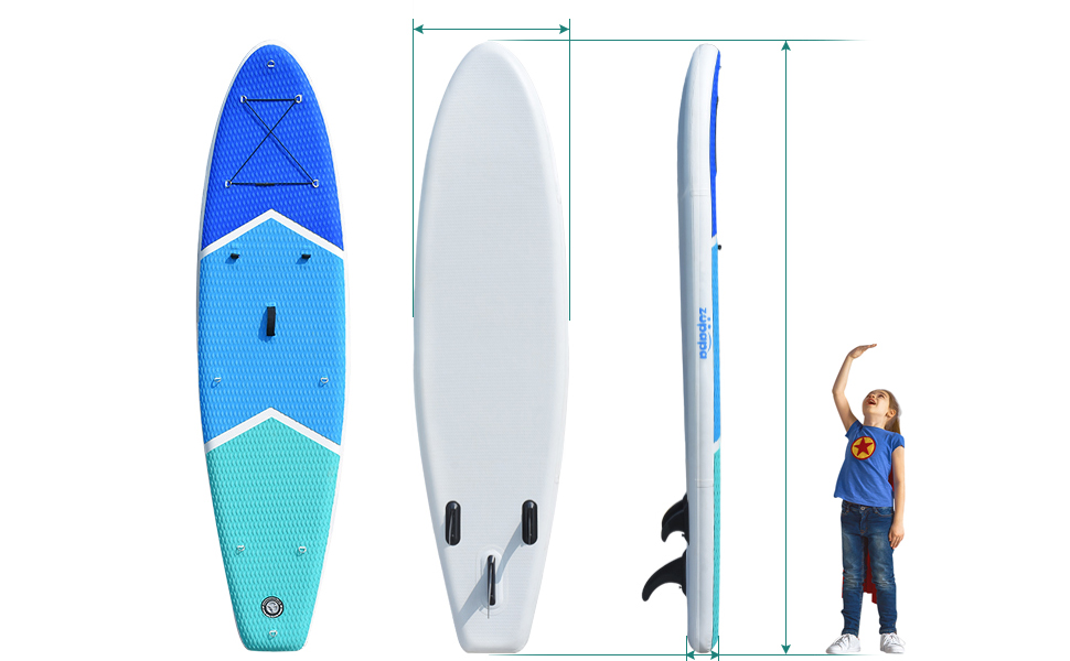 inflatable stand up paddle board dimensions