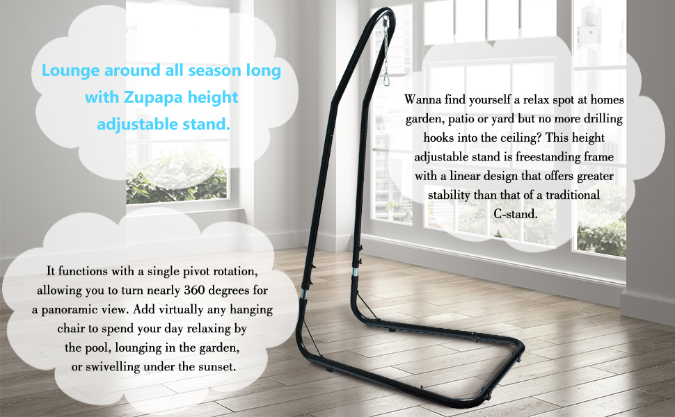 height adjustable swing chair stand
