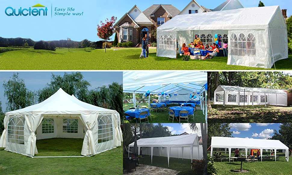 Quictent is one of the top brands who sell quality structures like Carport Marquees party tent greenhouses etc. which has been doing tents business since ... & Amazon.com: Quictent 13u0027X26u0027 Heavy Duty Outdoor Gazebo Wedding ...