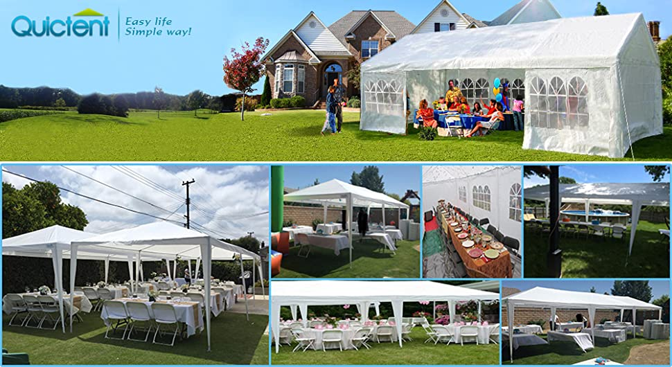 Quictent is one of the top brands who sell high quality structures like marquees gazebos c&ing tents etc. Quictent has been doing tents business since ... & Amazon.com : Quictent 10 x 30 Outdoor Gazebo Wedding Party Tent ...
