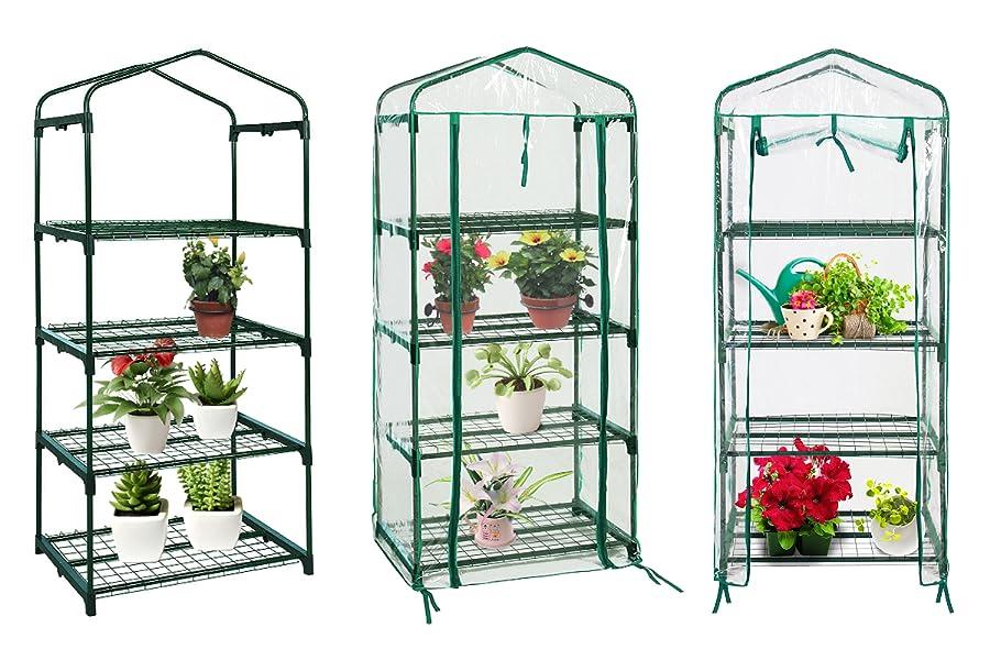 Quictent Hot 4 tier Mini Portable GreenHouse w//Shelves Brand New