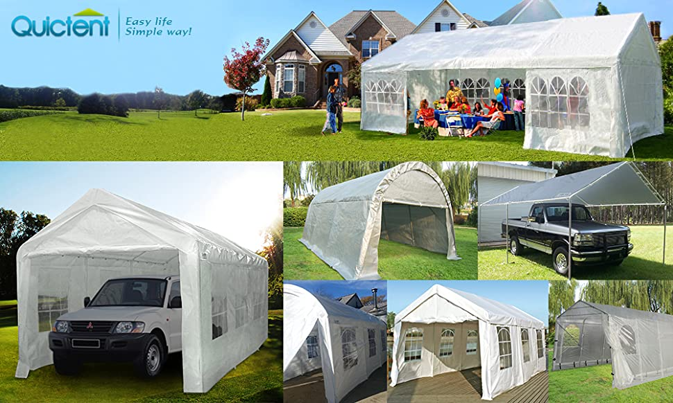 Quictent is one of the top brands who sell quality structures like Carport Marquees party tent greenhouses etc. which has been doing tents business since ... & Amazon.com : Quictent 20u0027X10u0027 Heavy Duty PE Water Resistant Party ...