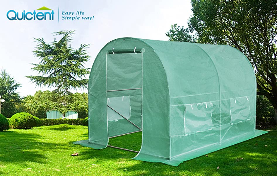 Quictent is one of the top brands who sell high quality structures like Greenhousegrow tent marquees gazebos c&ing tents etc. & Amazon.com : Quictent Galvanised 2 Doors 10 X 7 X 7 Ft Portable ...