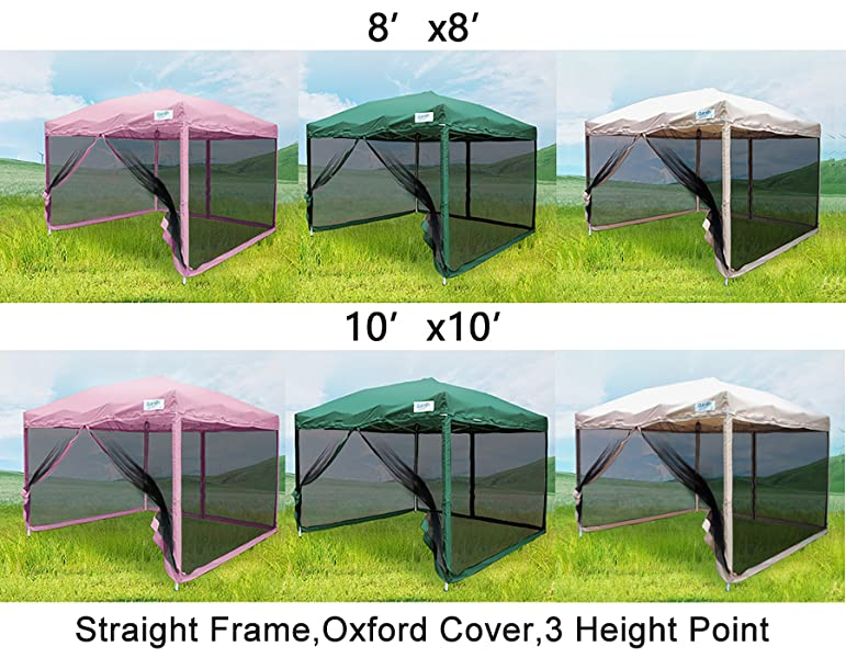Amazon Com Quictent 10x10 Ft Ez Pop Up Canopy With
