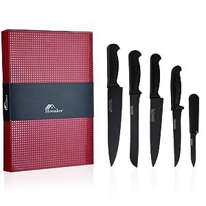 Amazon.com: Homaker Juego de cuchillos, cuchillos de cocina ...