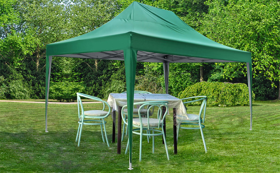 Amazon Com Quictent Privacy 10x15 Ft Ez Pop Up Canopy Tent Enclosed Outdoor Instant Shelter Party Tent Event Gazebo With Sidewalls And Mesh Windows Waterproof Green Garden Outdoor