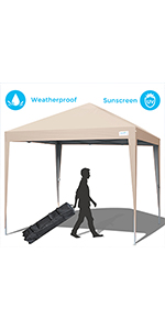 Amazon Com Quictent Upgraded Ez Pop Up Canopy With
