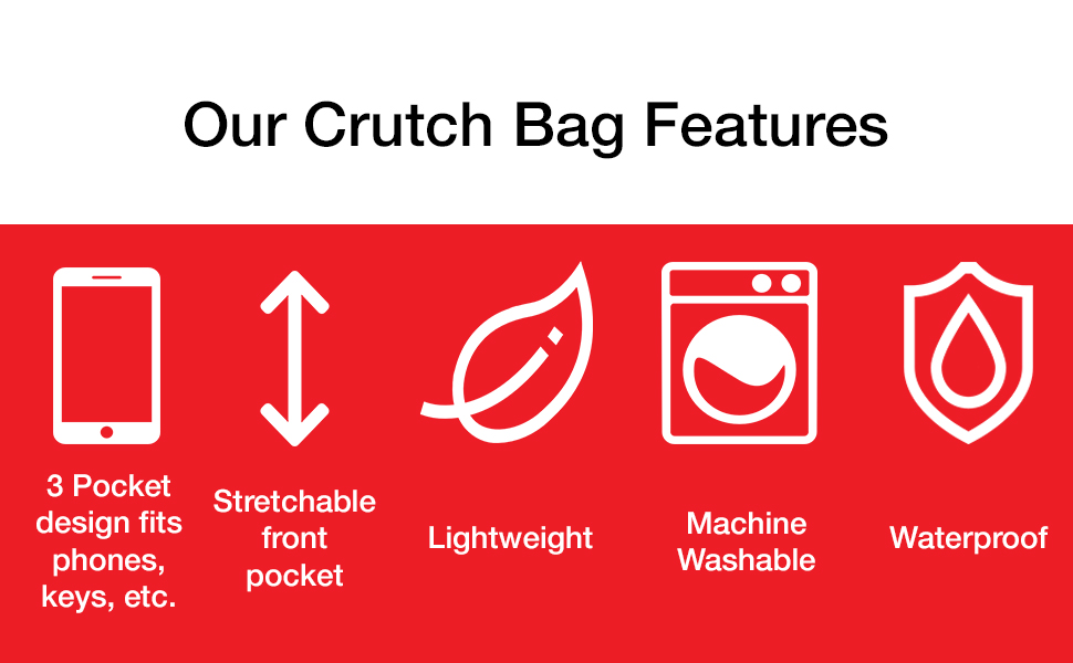 crutcheze crutch bag features
