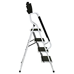 Amazon Com Support Plus Folding 4 Step Safety Step Ladder