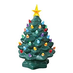 give your christmas display plenty of 1950s nostalgia with this ceramic glass christmas tree made of real high glaze ceramic done in forest green
